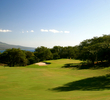 The 10th hole at Kahili G.C. is a long par 4 that plays along the slopes of the West Maui Mountains.