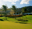 The par-5 ninth hole at Kahili Golf Course finishes in front of the clubhouse.