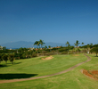 The par-3 sixth hole on the Ka'anapali Kai golf course plays up to 193 yards.