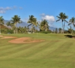 When the trade winds kick up, the fourth hole on the B nine at Hawaii Prince Golf Club can play long.