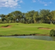 Ewa Beach Golf Club's 15th hole plays as a strong par 4.