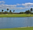 A pond at the 18th hole finishes the day at Ewa Beach Golf Club.