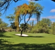 Trees block the left side of the third green at Ewa Beach Golf Club.