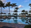 The pool at Turtle Bay Resort overlooks a great surfing spot.