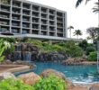 A separate pool with a water slide keeps children away from the adult pool at Turtle Bay Resort in Hawaii.