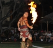 Hawaiian performers sometimes put on a free fire show at Turtle Bay Resort on Oahu.