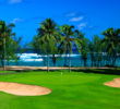 The 11th is one of four holes with ocean views on the George Fazio Course at Turtle Bay Resort on Oahu.