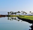 Water guards the second green of the Kings' Course at Waikoloa Beach Resort in Hawaii.