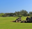 Volcanic rock can erupt along the lines of play, like this pile right of the 10th fairway, on the Kings' Course at Waikoloa Beach Resort in Hawaii.
