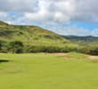 The first hole is a gentle starting par 4 on the Palmer Course at Turtle Bay Resort.