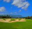 The well bunkered par-5 second hole at Makai Golf Club can play as long as 611 yards.