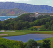 Makai Golf Club's par-4 third, said to be designer Robert Trent Jones Jr.'s favorite, mimics the ocean-mountain backdrop in its design.