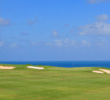 The ocean comes right back into view on the par-4 sixth at Makai Golf Club on Kauai.