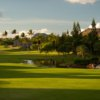 A view of hole #10 guarded by the Mickey sand trap at Ko Olina Golf Club.