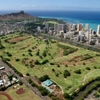 Aerial view of Ala Wai Golf Course
