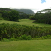View from the 401-yard par-5 13th hole at Royal Hwaiian Golf Club