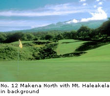 No. 12 at Makena North with Mt. Haleakela in background