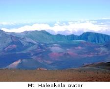Mt. Haleakela crater