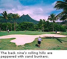 The back nine's rolling hills