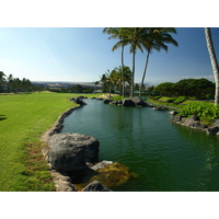 The number one handicap hole at the Waikoloa Resort Beach Course is the 586-yard par-5 fourth.