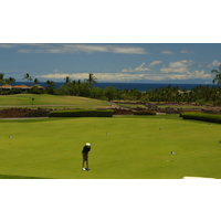 The putting green at the Francis H. I'i Brown South Course at Mauna Lani Resort.