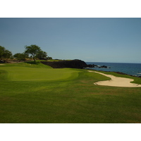 The par-3 seventh provides one of many dramatic views on Mauna Lani Resort's South Course.