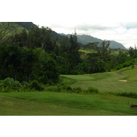 Don't miss the green left on the par-4 finishing hole at Luana Hills Golf and Country Club on Oahu.