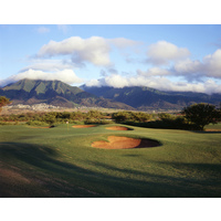 The par-4 opening hole on The Dunes at Maui Lani Golf Course plays 428 yards.