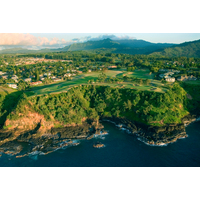 While it's Princeville's Prince course that scores most of the accolades, the Princeville Makai features the best cliffside holes, like the par-3 seventh.