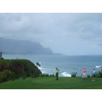 You're never too far from the ocean on a Kauai golf course, especially on Princeville's Makai Course.