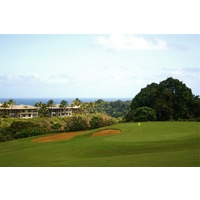 Many points on the Prince Course at Princeville resort sit on high ground overlooking the ocean.