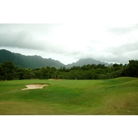 The 16th hole is the shortest of the par 3s at Puakea Golf Club.