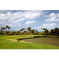 The par-3 seventh hole is the shortest hole at Poipu Bay Golf Course.