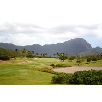 The par-4 12th hole at Poipu Bay Golf Course plays gently uphill and usually into the trade winds.