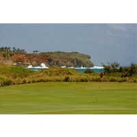 The closing stretch at Poipu Bay Golf Course generally plays with the trade winds at your back.