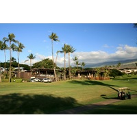 Wailea Golf Club's Old Blue course plays out of its own clubhouse, home to an Irish Pub, Mulligan's.