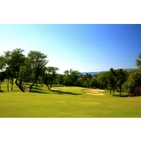 The first hole on the Gold Course at Wailea Golf Club is a downhill, dogleg left par 4.