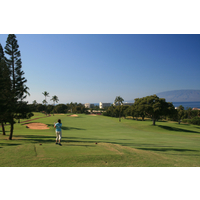 The 11th hole is a straightaway par 4 at Royal Ka'anapali.