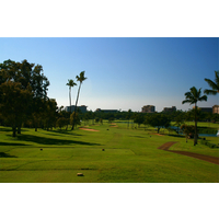 Royal Ka'anapali golf course's 16th hole is a downhill par 4 that plays 437 yards.