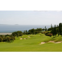 The opening hole at King Kamehameha Golf Club is a par 5 that plays toward the ocean.