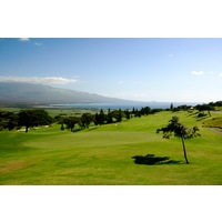 The King Kamehameha golf course sits up into the West Maui mountains about 700 feet above sea level.