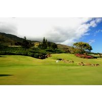 The sixth hole at King Kamehameha Golf Club is a short par 4 full of water features.