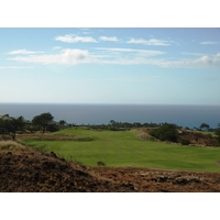 The par-11th at Hapuna Golf Course is a double dogleg that plays 550 yards.