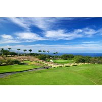 The 16th at Hapuna Golf Course is a downhill par 3 that plays as long as 162 yards.