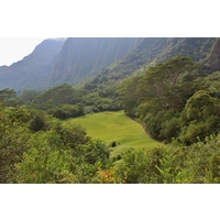 Make sure you visit the back tee on the 15th hole for this view of Ko' olau Golf Club.
