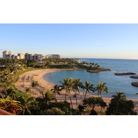 Gorgeous views of the beach can be seen from the balconies of the JW Marriott Ihilani Ko Olina Resort & Spa.