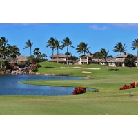 The finishing hole at Ko Olina Golf Club is an incredible mix of beauty and trouble.