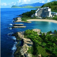 JW Marriott Ihilani Ko Olina Resort & Spa shares the same lagoon with the new Disney property on Oahu.