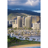 The Hawaii Prince Hotel Waikiki sits in the heart of Honolulu near Waikiki Beach.