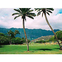 Golfers at Olomana will marvel at the Koolau Mountain Range.